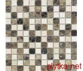 Мозаика SPT 020 бежевый 300x300x0 матовая коричневый микс белый