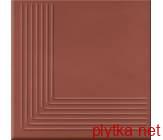 Керамическая плитка Плитка Клинкер  LOFT RED STEPTREAD CORNER 300x300x11 красный лаппатированная
