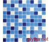 Мозаика MIX C 011, 30х30 белый 300x300x0 глянцевая синий