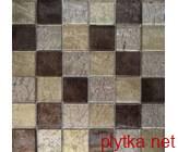 Мозаика MIX GREY, 30х30 коричневый 300x300x0 глянцевая микс