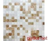 Мозаика GLmix43, 32,7х32,7 коричневый 327x327x0 матовая белый