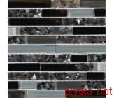 Мозаика T-MOS GG05, 30х30 микс 300x300x8 глянцевая серый черный