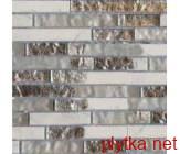 Мозаика T-MOS G01+SG01, 30х30 серый 300x300x8 глянцевая