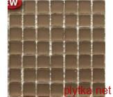Мозаика T-MOS BROWN MIRROR FACE MATE, 32х32 коричневый 300x300x8 матовая