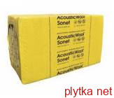 AcousticWool Sonet P, 80 кг/м3, акустическая минеральная вата, кашированная стеклохолстом черного цвета, (3,6 м 2 /упак.)1000 х 600 х 50