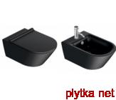 ZERO Унитаз подвесной безободковый, черный матовый 35х55 см
