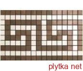 Керамогранит Декор (18.5x30) ASM8 MARVEL BRONZE/CHAMPAGNE GRECA MOS. коричневый 185x300x0 полированная