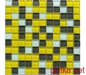 Мозаика Crystal Yellow Grey 6mm желтый 300x300x0 серый микс