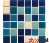 Мозаика R-MOS B113132333537 микс голубой-6 (на бумаге), 321x321x4 321x321x0 матовая