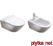 CLASSY Биде подвесное белое/серебро 35x55