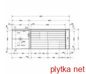 Inipi Ama сауна, пристенная и угловая версия Duravit Inipi 7505