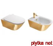 Gold&Silver Биде подвесное 35х55 см с 1 отв.под смеситель, белый/золото