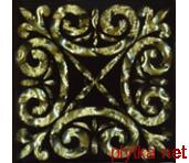 Тако вставка для пола Классик золото рифлями. 66х66х8