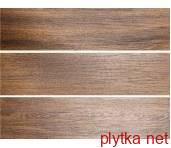 Керамогранит Керамическая плитка Фрегат темно-коричневый обрезной темный 200x800x0 коричневый