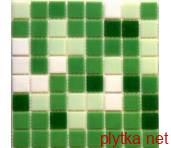 Керамическая плитка Мозаика R-MOS WA41424611 mix green зеленый 327x327x4