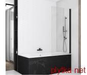 SOEB107500607 BlackLine SOLINO Одностворкова шторка для ванны, стекло прозрачное, проф.чорний мат