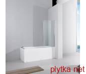 FEN0794P QUEST Шторка стеклянная на ванну, реверсивным, 1400х800 стекло шиншилла