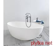 1MUBI0CR Muse Ванная отдельностоящая из искусственного камня без перелива, 1680х830, с сифоном, белая