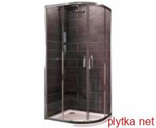 x1 кабіна душова 90*90 см напівкругла (профіль гл хром, скло прозоре)